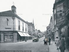 Photo of High Street Part of The Francis Frith Collection of historic photographs of Britain. Did you know you can browse the archive online today for free? Your nostalgic journey has begun. Vintage Pram, Shop Fronts, Salisbury, Vintage Photography, Beautiful Images, Britain, Archive, Photographs, England