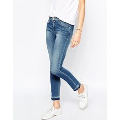 Hilfiger Denim Naomi Mid Rise Slim Jeans With Raw Hem (115 AUD) ❤ liked on…