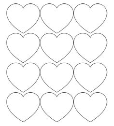 Free Printable Heart Templates – Large, Medium & Small Stencils for all of your Valentine's Day craft projects!