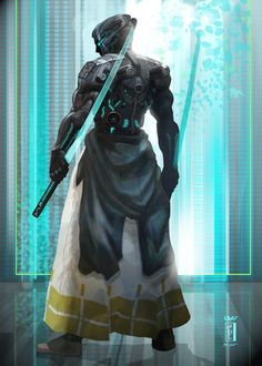 """snebakken: ""Cymurai - cyborg samurai "" Follow for more corporate approved content. Remember, corporate ""loves"" you. """