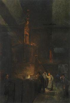 Het gieten van gietelingen - Herman Heijenbrock (1907)