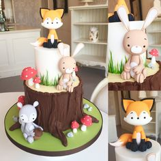 Woodlands creature cake - For all your cake decorating supplies, please visit http://www.craftcompany.co.uk/