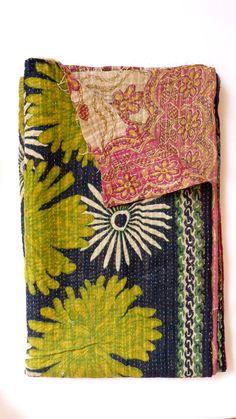 Kantha Quilt Antique Black
