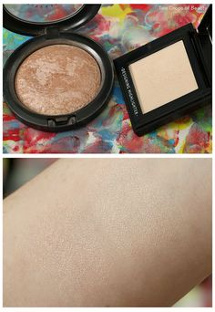 A'Pieu Designing Highlighter PRO -Sunlit Floor VS MAC Mineralize skinfinish - Soft and Gentle
