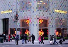 The Louis Vuitton flagship store on 5th Avenue in New York City recently received the Stephen Sprouse treatment.