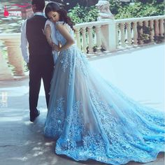 Sky Blue Lace Prom Dresses V Neck Flower African Bridal Dresses Elegant Charming Robe De Mariage Casamento Boda Prom Dresses For Plus Size Prom Dresses Montreal From Rosemarybridaldress, $250.26| Dhgate.Com