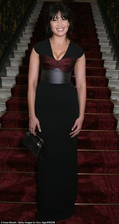 Hourglass: Model Daisy Lowe showed off her curves in a figure-hugging floor-length number...