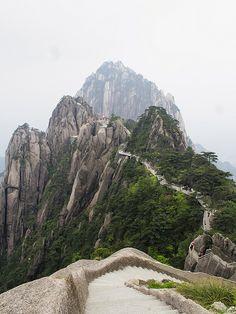 The Lotus Peak trail in Huang Shan, China