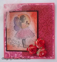 flying ballerina card with spotlight stamping.
