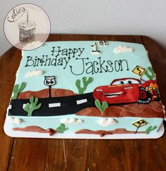 Cars birthday cake, disney cars cake, lightening mcqueen, fondant, sheet cake