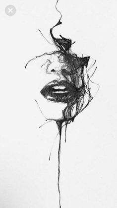 leewoodman: Charcoal no. 55 Lee Woodman 2012 (in private. Dark Art Drawings, Pencil Art Drawings, Art Drawings Sketches, Tattoo Drawings, Beautiful Drawings, Illustration Tattoo, Charcoal Art, Charcoal Sketch, Art Sketchbook