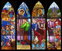 Vitrais para a capela Rodolfo Komorek, Sao José dos Campos SP