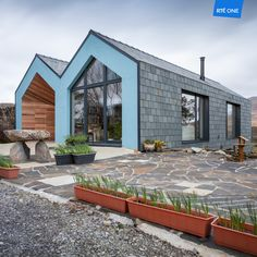 The winning West Cork house Marcin Janowski // Maann Photography Cob House Plans, Rural House, Ireland Homes, Earthship, Cladding, Beautiful Homes, Cottage, House Design, Patio