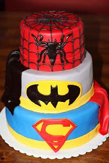 Superhero Cake... This will be my next birthday cake...and ppl will come dressed as their fav super hero...and...