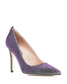 SJP by Sarah Jessica Parker Fawn Metallic Glitter Pointed Toe High Heel Pumps - Bloomingdale's Exclusive