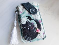 Handmade cell phone pouch for Samsung Galaxy S3,S4,Nokia,HTC,LG,Sony..etc