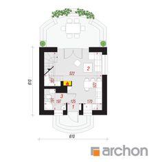 Projekt domu Dom w krokusach (A) - ARCHON+ 100 M2, Floor Plans, Floor Plan Drawing, House Floor Plans