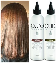 Filling hair with Pure BLENDS color depositing Shampoo | Pure ...