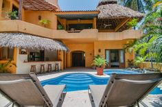 Casa Primo in Sayulita, Mexico is a vacation rental villa in a central location within two blocks of the plaza and just steps to the beach, with a private pool