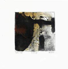 Csaba Pál, Debris, 05, 18x18 cm, dry point, mixed