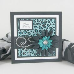 Birthday card, leopard print, cheetah print card, personalized card, for female, women, woman, girls