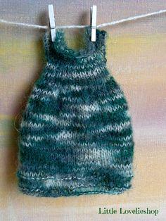 BLYTHE DOLL Dress - OOAK -  pretty mohair knitted dress by Little Lovelies, $28.00 USD