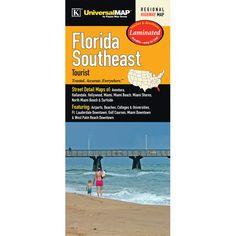 Florida Southeast Tourist Laminated Map