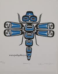 Native Dragonfly Haida Kunst, Arte Haida, Haida Art, Native Design, Native American Design, American Indian Art, Arte Tribal, Tribal Art, Doodles Zentangles
