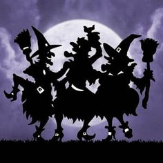 "New Halloween Lawn Art Yard Shadow Silhouette ""Dancing Witches"" 48""H 