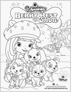 Strawberry Shortcake coloring sheet by clicking on the photo above and printing it off!You can buy Strawberry Shortcake: Berry Best In Show at retailers nea Creation Coloring Pages, Animal Coloring Pages, Coloring Pages To Print, Colouring Pages, Coloring Pages For Kids, Free Coloring, Adult Coloring, Coloring Books, Cartoon Tv
