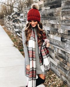 a697d8dd6a2  ilymixAccessories Fall fashion style outfits with scarves. Pom Pom beanies   fall  winter