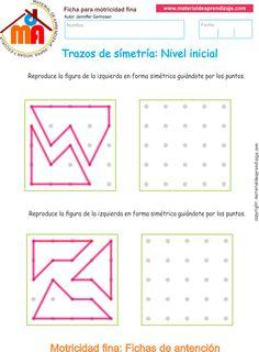 Ejercicio 12: Actividadesescolares de trazos de simetría paradesarrollar la memoria y la atencióncon los niños.Copia los trazos lineales