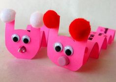 Here is a last minute, easy-to-make Valentine's Day craft for your kids! These silly worms are inching along to wish you a Happy Valentine's Day.
