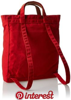 We Love A Convertible Backpack Purse for Travel : Fjallraven Totepack Red: Fjallraven: Sports & Outdoors My Bags, Purses And Bags, Convertible Backpack, Patchwork Bags, Backpack Purse, Travel Backpack, Travel Bags, Backpack Craft, Red Tote Bag