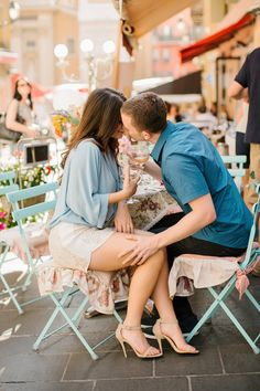 Sunlit French Riviera Engagement Session