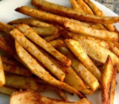 Baked #French_Fries. Click For Recipe