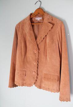 Perforated Design Pendleton Leather Gypsy Jacket by FoxyRae on Etsy