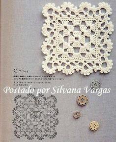 Crochet y Bebê: Lindos squares em crochet!