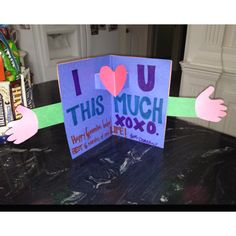 Homemade card I made for my boyfriend. Money saver! And way cuter than Kroger cards;)