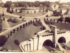 The Trianon Boulevard in before the construction of the MASP Museum. History Of Time, Sao Paulo Brazil, Building Sketch, Paulistano, Old City, Historical Photos, Old Photos, Vintage Photos, Wonderful Places