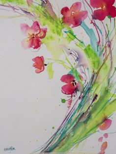 Red With Abandon – Angela Fehr watercolours