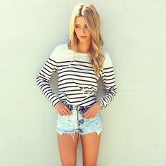 striped tee! I've been looking for the perfect one!
