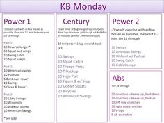 Working Out and Eating In: Workout Recap - Kettle bells on Monday, August Fun Workouts, At Home Workouts, Body Workouts, Workout Ideas, Gym For Beginners, Full Body Circuit, Hitt Workout, Fitness Tips, Fitness Fun