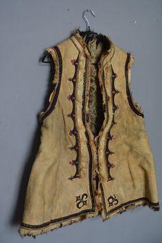 c810c8cfb24af3e Antique Ukrainian vest - Traditional Ukrainian sleeveless shirt - Hutsul  vest kiptar - Ukrainian folk sleeveless fur sheepskin coat