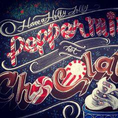 Christmas Holidays Chalk design by Carolina Ro #carolinaro #chalkartist…