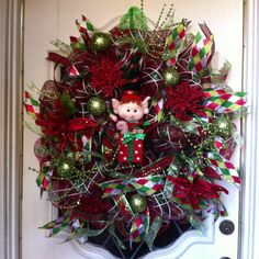 My Christmas wreath project.