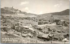 "Victor, Colorado Real Photo RPPC Postcard ""CITY OF GOLD MINES"" View Kodak Back"
