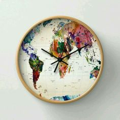 Cool map clock!
