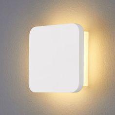 Applique LED en plâtre Gypsum moderne LAMPENWELT - Applique