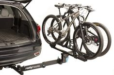 Down 'N Dirty: Rockymounts BackStage Swing Away Platform Hitch Rack - Elevation Outdoors Magazine Bike Hitch, Hitch Rack, Roof Mount Bike Rack, Roof Rack, Cargo Van Conversion, Camper Conversion, Slide In Camper, Roof Top Tent, Premium Cars